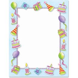 Birthday Party Border Papers