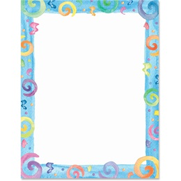 Party Swirls Border Papers