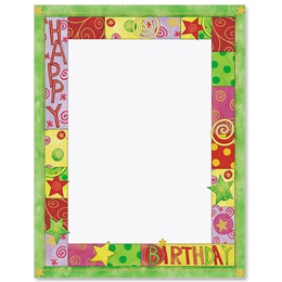 Birthday Bash Border Papers