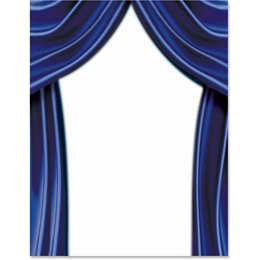 Stage Curtains Border Papers
