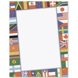 World Flags Border Papers