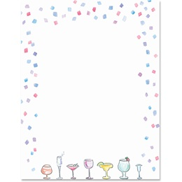 Cocktails Border Papers