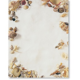 Seashells Border Papers