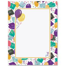 Graduation Celebration Border Papers