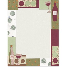 Wine Collage Border Papers