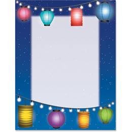 Paper Lanterns Border Papers