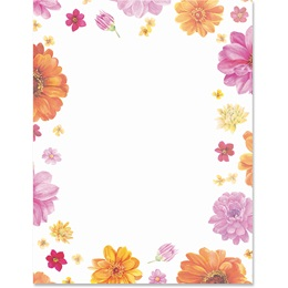 Flower Fun Border Papers