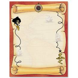 Treasure Map Border Papers