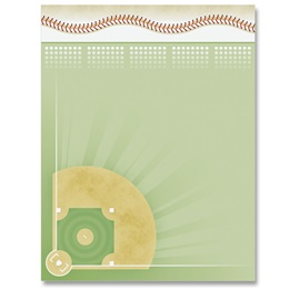 Baseball Diamond Border Papers