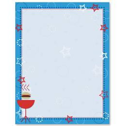 Red, White, and BBQ Border Papers