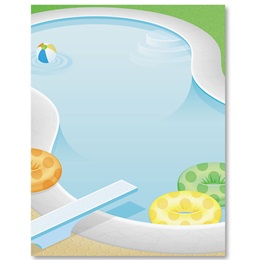 Pool Party Border Papers