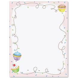 Cupcake Party Border Papers