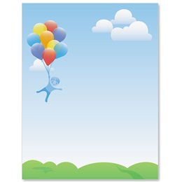 Balloon Dreams Border Papers