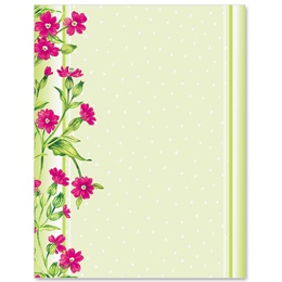 Frilly Flowers Border Papers