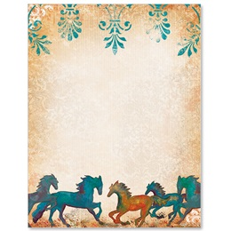 Painted Horses Border Papers