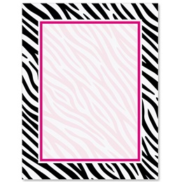 Zebra Print Border Papers