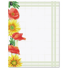 Summer Florals Border Papers