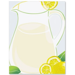 Fresh Lemonade Border Papers