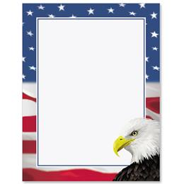 Patriotic Eagle Border Papers