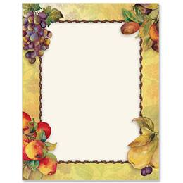 Vintage Fruit Border Papers