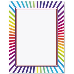 Candy Stripes Border Papers