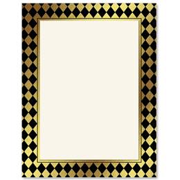 Venetian Harlequin Border Papers