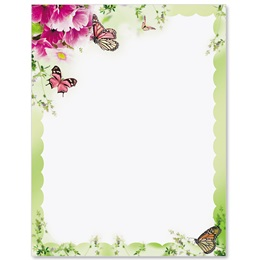 Primrose and Butterflies Border Papers