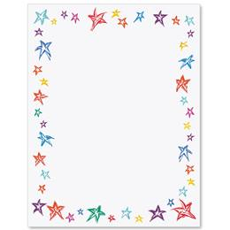 Festive Stars Border Papers