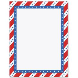 Patriotic Passion Border Papers