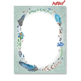 Feathers and Flora Border Papers