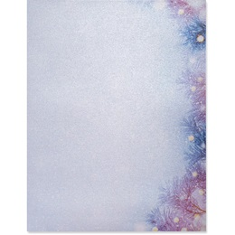 Frosty Winter Border Paper - Pearl Shimmer