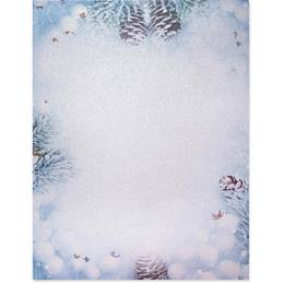 Winter Daydream Border Paper - Pearl Shimmer