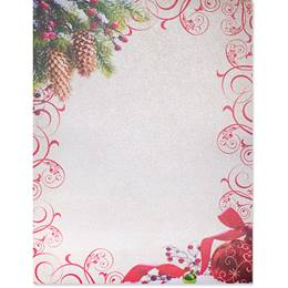 Ruby Wishes Border Paper - Pearl Shimmer