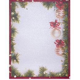Christmas Twilight Border Paper - Pearl Shimmer