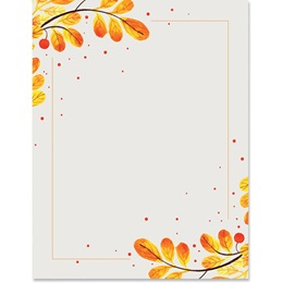 Watercolor Branch Border Paper