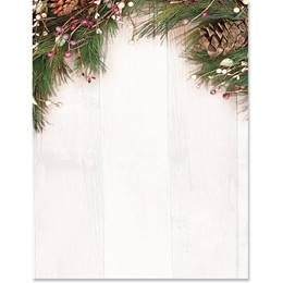 Rustic Holiday Specialty Border Papers