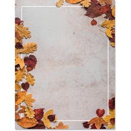 Scattered Golden Leaves Border Papers