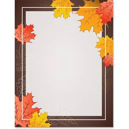 Fall Leaves Border Papers