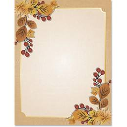 Rustic Autumn Border Papers