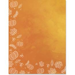 Splash Of Fall Border Papers