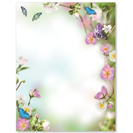 Butterfly Delight Border Papers