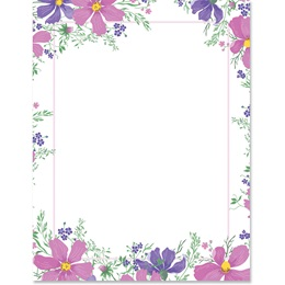 May Flowers Border Papers
