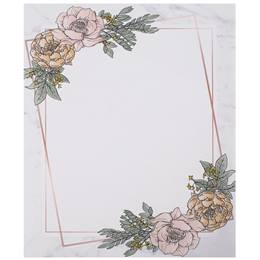 Geometric Flowers Border Papers