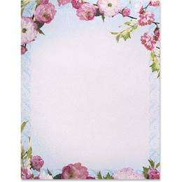 Cherry Blossom Border Papers