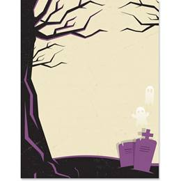 Tombstones and Ghosts Border Paper