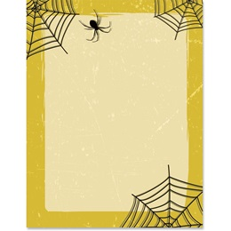 Golden Spider Webs Border Paper
