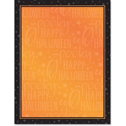 Happy Halloween Border Papers