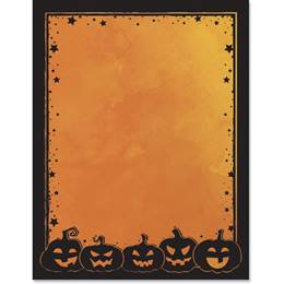 Pumpkin Silhouettes Border Papers