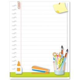 School Supplies Border Papers