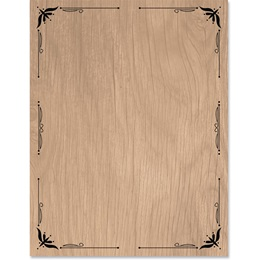 Woodgrain Border Papers